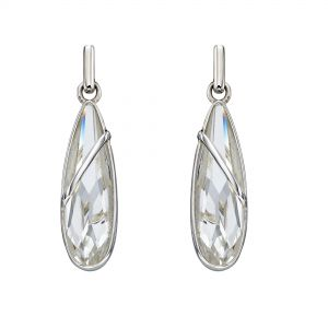 Elements Jewel Elongated Teardrop Swarovski Crystal Earrings