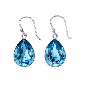 Elements Jewel Aqua Swarovski Crystal Teardrop Earrings
