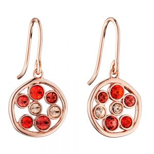 Fiorelli Round Organic Red Crystal Earrings