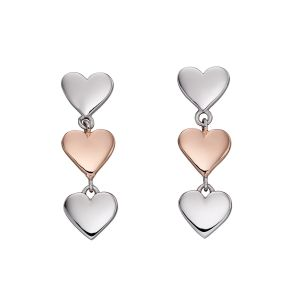 Fiorelli Mixed Metal Heart Earrings