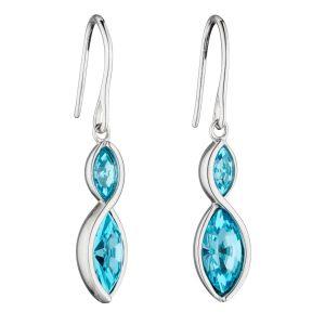 Fiorelli  Aqua Navette Twist Earrings