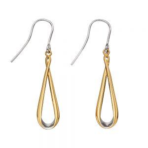 Fiorelli Mixed Metal Ribbon Earrings