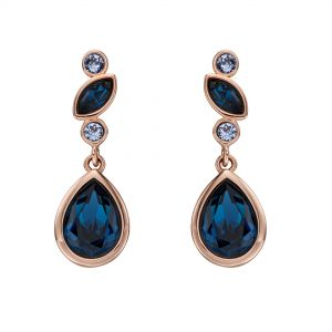 Elements Jewel Rose Gold Plated Monta Swarovski Crystal Earrings