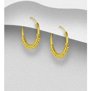 925 Sterling Silver Ball Hoop Earrings