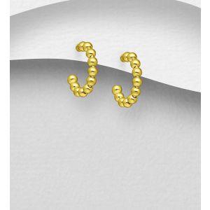 925 Sterling Silver Ball Push-Back Earrings