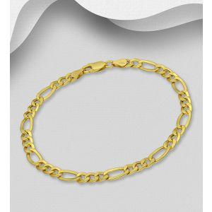 925 Sterling Silver Figaro Bracelet