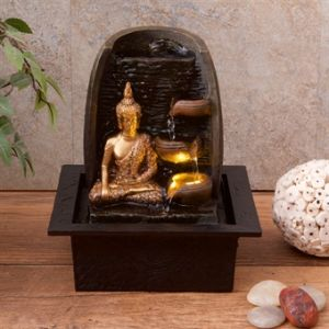 Golden Buddha wt Water Cups