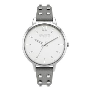 Missguided Grey Strap with Satin Silver Dial watch