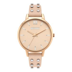 Missguided Nude Strap with Rose Gold Dial watch