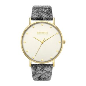 Missguided Grey Snake Printed Strap with White Dial watch