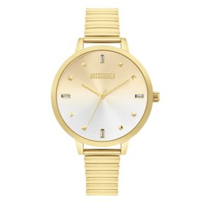 Missguided Gold Expander with Gold to White Sunray Dial watch