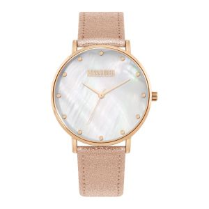 Missguided Metallic Rose Gold Strap with Mother of Pearl Dial