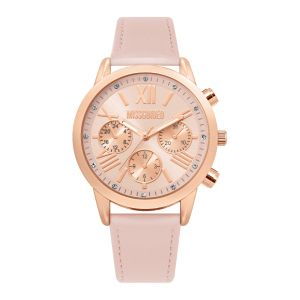 Missguided Pink Strap with Rose gold Case and Pink Multi Look Dial