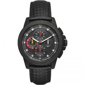 Michael Kors Ladies' Black Leather Strap Watch
