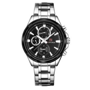 Naviforce Stainless Steel Chronograph  Watch