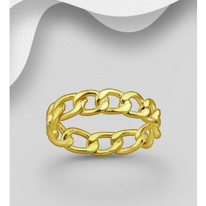 925 Sterling Silver Links Band Ring