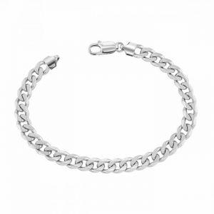 Silver Curb Bracelet 8.5