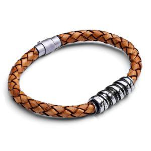 Tribal Men's Leather Bracelet Tan