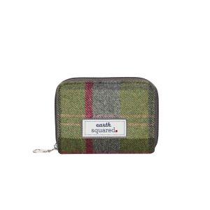 Tweed Wallet-Stone Moss Tweed