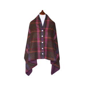 Tweed Wrap- Mulberry Tweed