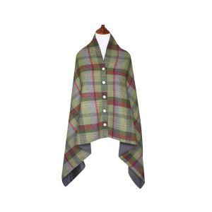 Tweed Wrap- Stone Moss Tweed