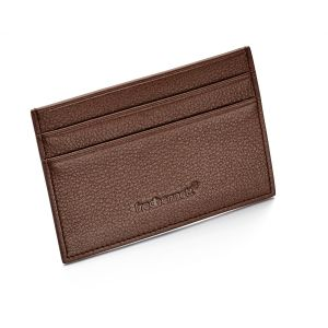 Fred Bennett Brown leather cardholder and gift box