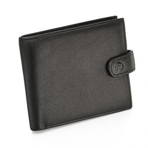 Fred Bennett Black leather wallet with coin purse and gift box