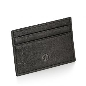 Fred Bennett Black leather cardholder and gift box