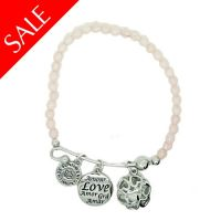 Sentiment Pink Elasticated Love Bracelet