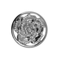 Karine & Co. Silver Crystal Rose Coin