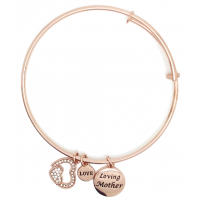 Sentiment Rose Gold Loving Mother Charm Bangle